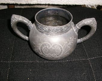 S ilver plated sugar bowl