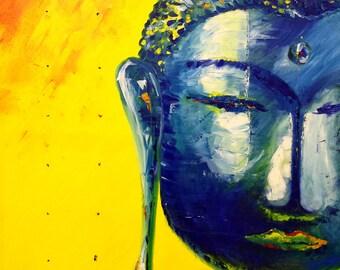 Buddha yellow/blue