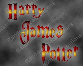 Harry Potter House Pride Personalized Name 8x10 Print