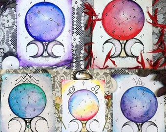 Custom Constellation Crystal Ball Paintings