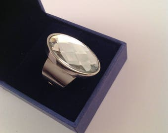 Silver ring ajustable