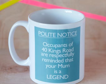 Mum Is A Legend - Personalised Mug