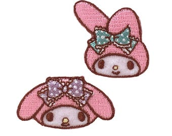 My Melody character emblem  Patch applique handicraft Sewing Supplies SANRIO from Japan kawaii