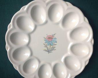 Steubenville Pottery FAIRLANE - 1 Egg Plate