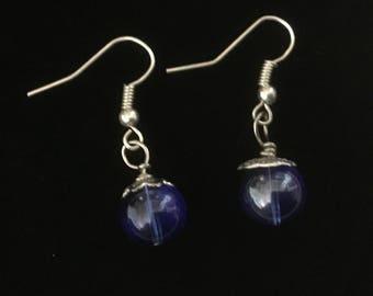 Blue night sky earrings
