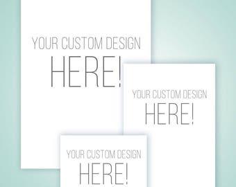 Custom Designed Wedding Invitation Kit ** Invitation, RSVP, and Save the Date Printable Set