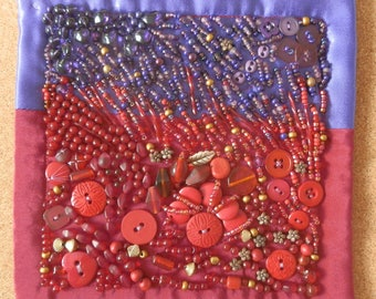 Red to Purple Art Quilt