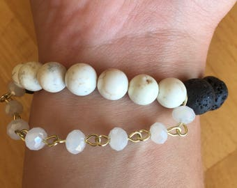 "Essential Oil ""Balance"" Beaded Bracelet"