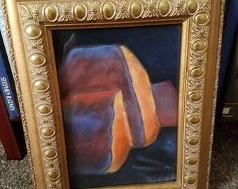Original framed pastel abstract art