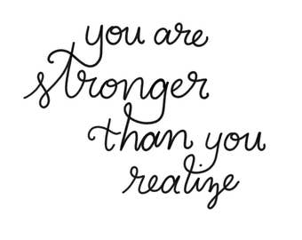 You are Stronger than You Realize - Digital Download