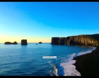 "14""x11"" Photo Print: Black Sand Beach Iceland"