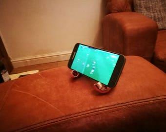 Mobile Phone stand, phone holder, tablet holder, copper pipe phone stand, copper phone holder, copper pipe, Christmas, Secret Santa, gadget
