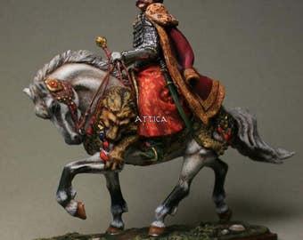 Tin Soldier, miniature, collector quality, John III Sobieski, King of Poland, Polish hussar, 54 mm, Polish-Lithuanian Commonwealth