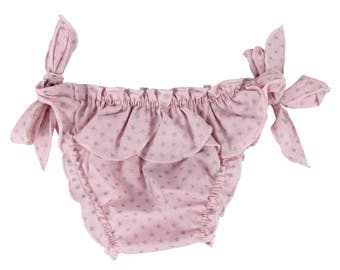 Puuper Batiste swimsuit Cecilia pink with stars