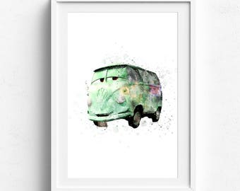 Disney cars, cars birthday party, disney cars decor, disney watercolor, pixar art, disney wall art, disney pixar, pixar watercolor, pixar