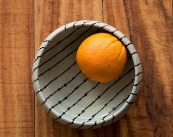 Stoneware Fruit Bowl  [ Ceramic Bowl, Salad Bowl, Serveware Bowl, Hand Painted Bowl, Tableware ]