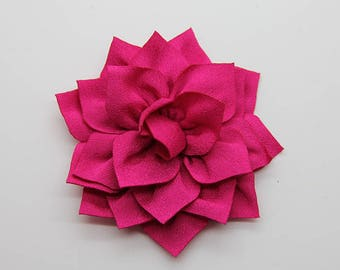 2 Hot Pink Poinsettia Flower Baby Girl Flower Hair Clips Brooches