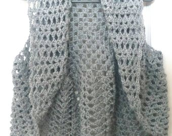 Crochet grey bolero best shrug