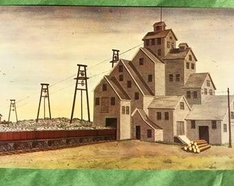 Michigan Postcard Old Quincy Mine #6 Quincy Michigan