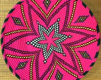 Moroccan Fruit Tray (Pink) - Handmade