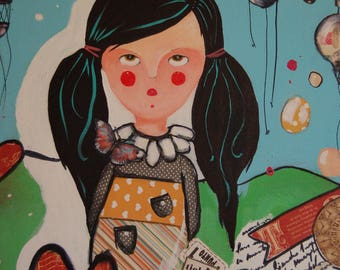 Painting Little Girl 7