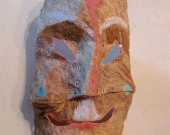 Vintage Mexican Deer Skin Mask