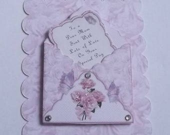 Pack 2 Mum Envelope Embellishment Toppers for cards and crafts