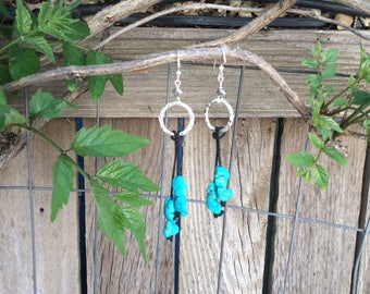 Turquoise earrings Statement  jewelry, BoHo earrings, Western jewelry, Hippie jewelry,
