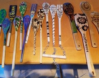 Joyful wooden Spoons