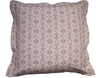 Cushion/sofa cushions 60 x 60 cm, Jaquardmaterial, cream beige