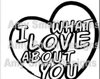 What I Love About You Cutfile