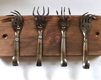 Funky fork face hooks