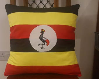 Handmade Uganda Flag Cushion