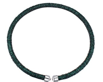 Austrian crystal necklace green