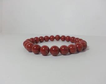 Natural Red Jasper Bracelet   Red Bracelet   Red Beads Bracelet   Natural Jasper Bracelet   Beaded Bracelet   Beads Bracelet   Round Beads