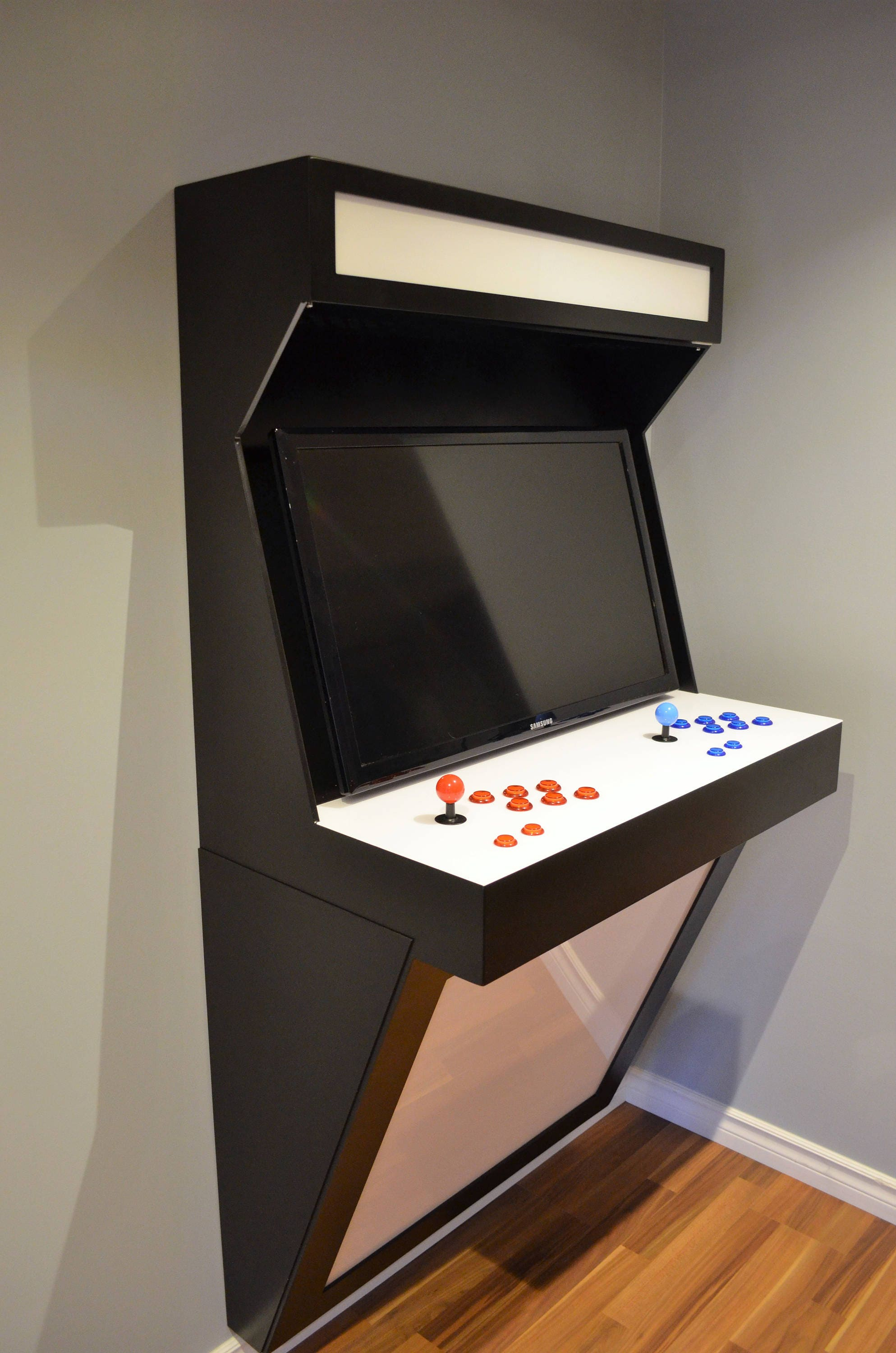 wall mounted arcade cabinet. Black Bedroom Furniture Sets. Home Design Ideas