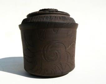 jewelry box black stoneware
