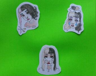 Three Girl Stickers