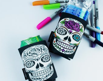 Adult Coloring - Coloring Party Favors - Coloring pages for adults - Coloring Gifts - Sugar Skull - Color Me Cuddler® by CanCuddler®-ROSE