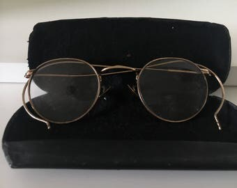 Pair of Vintage Eye Glasses with Case