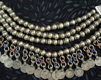 Beautiful Vintage  layered OOAK Gypsy Kashmiri choker with Coins