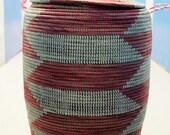 multi coloured handwoven laundry basket laundry basket  recycled plastic basket extra large basket
