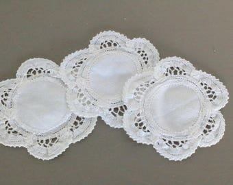 Set of Three Small Belgian Doilies