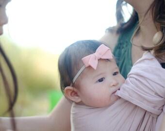 Infant headband   Felt schoolgirl bow   felt bow clips   girl bows   Baby bows   Pick your colors
