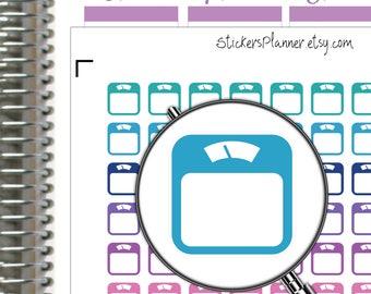 Scales Stickers Planner Scales Planner Erin Condren Planner Happy Planner Fitness Icon Stickers Weigh Stickers Weight Scales Stickers i70-2