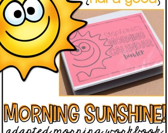 HARD GOOD Morning Adapted Work Binder - Learning Binder for Children