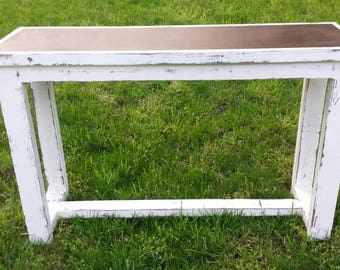 Rusted Steel Top Sofa Table