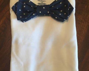 Custom Bow Tie Onesie
