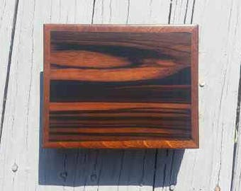 Rosewood and Teak Jewlery Box