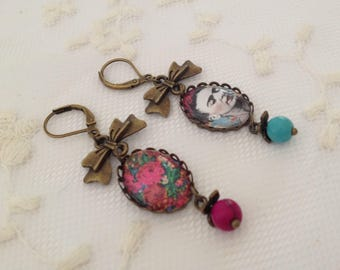 Frida Khalo cameo Earrings.
